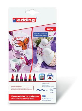 Маркер Edding 4200 Porcelain brushpen Colour Set 999